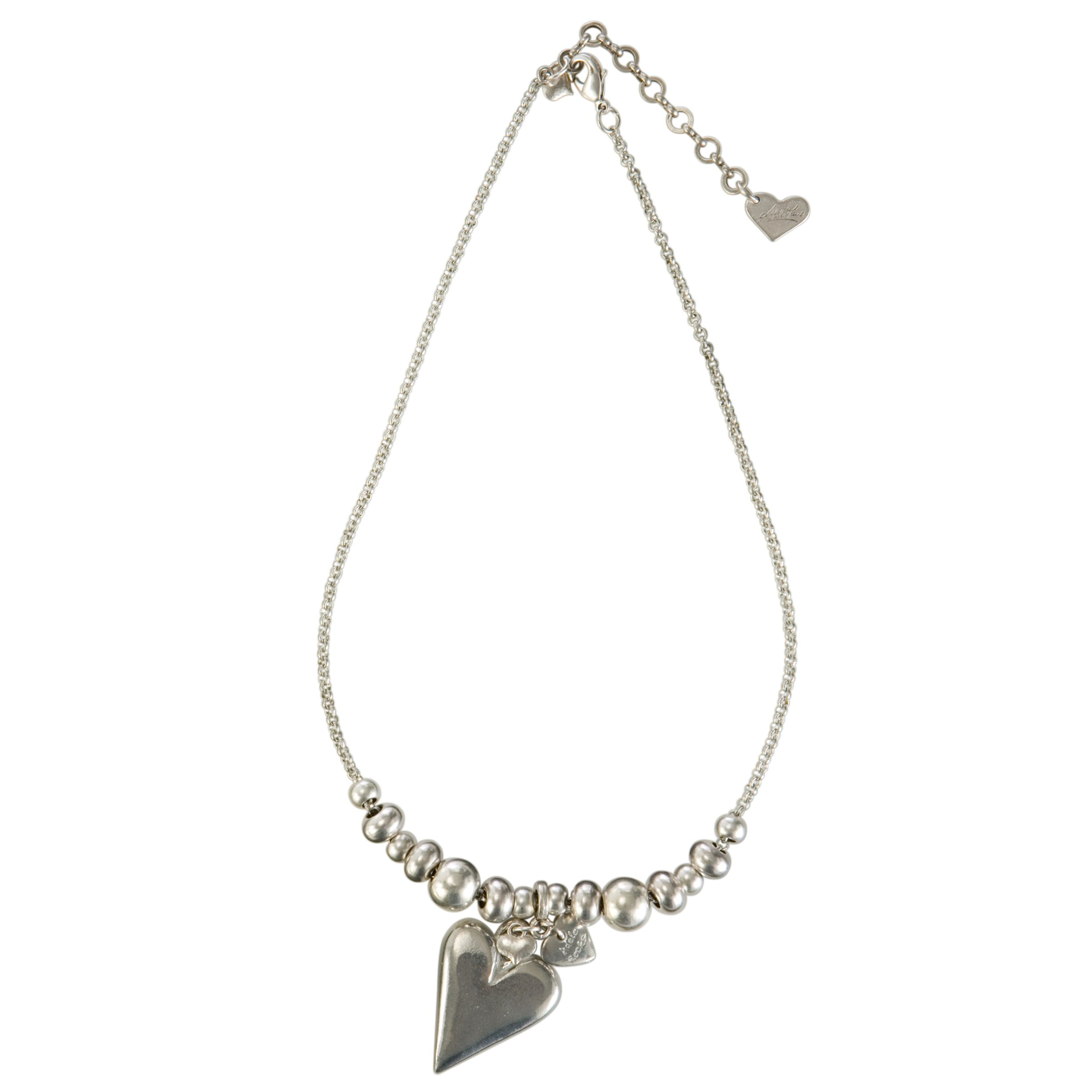 Adele Marie Silver Plated Heart Charm Necklace