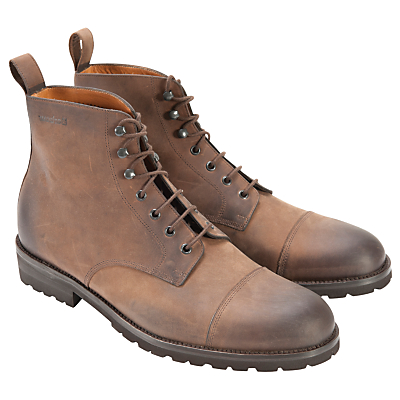 Barbour Leather Work Boots, Tan