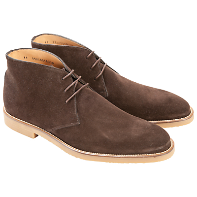Barbour Suede Desert Boots, Chocolate