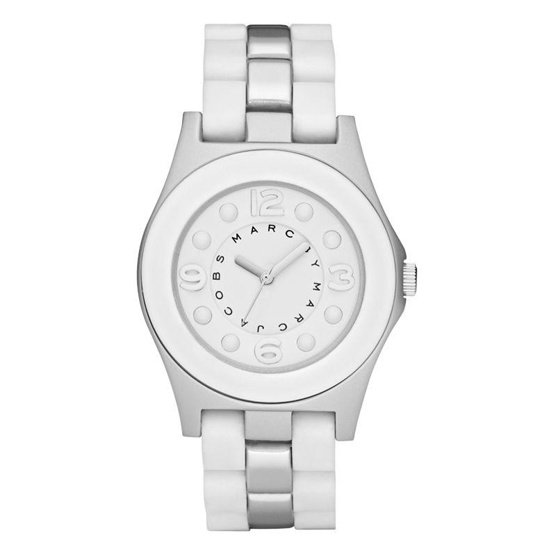 Marc By Marc Jacobs MBM3500 Aluminum Pelly Bracelet Watch, White