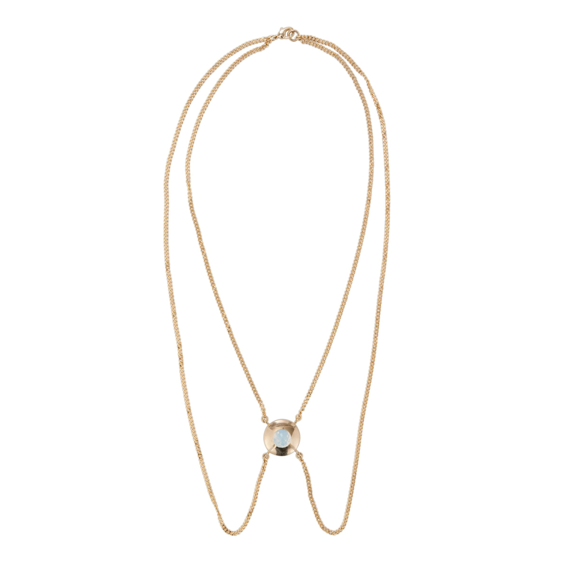 Inara Gold Plated Crystal Pendant Necklace