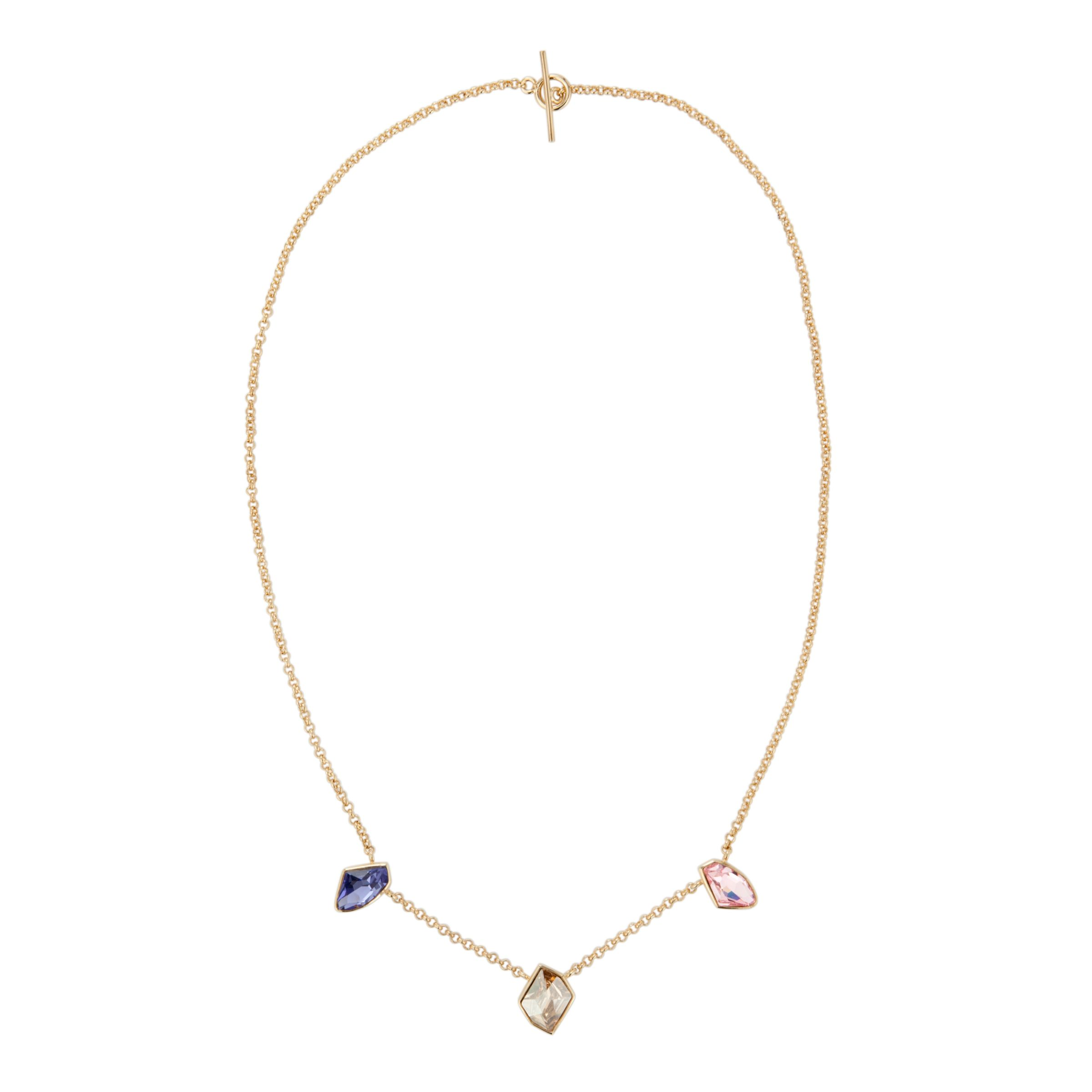 Inara Gold Plated 3 Crystal Pendant Necklace