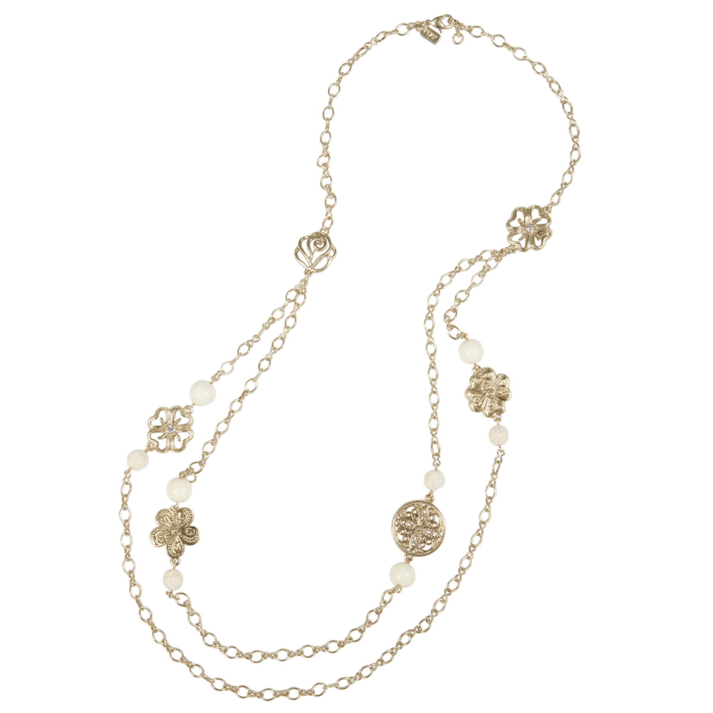 1928 New York Newport Beach Vintage Double Chain Necklace