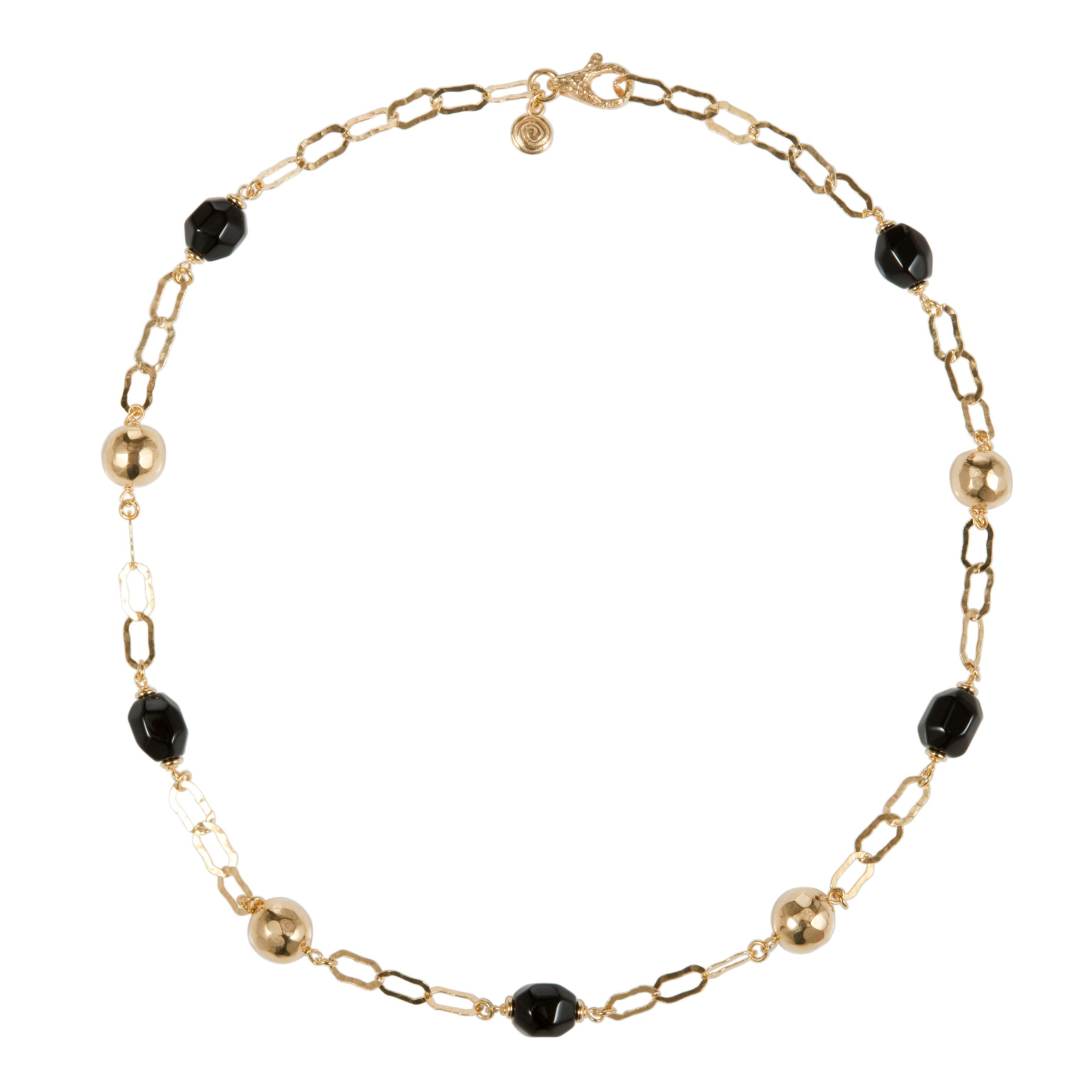 Etrusca 18ct Gold Plated Gemstone Link Nugget Necklace
