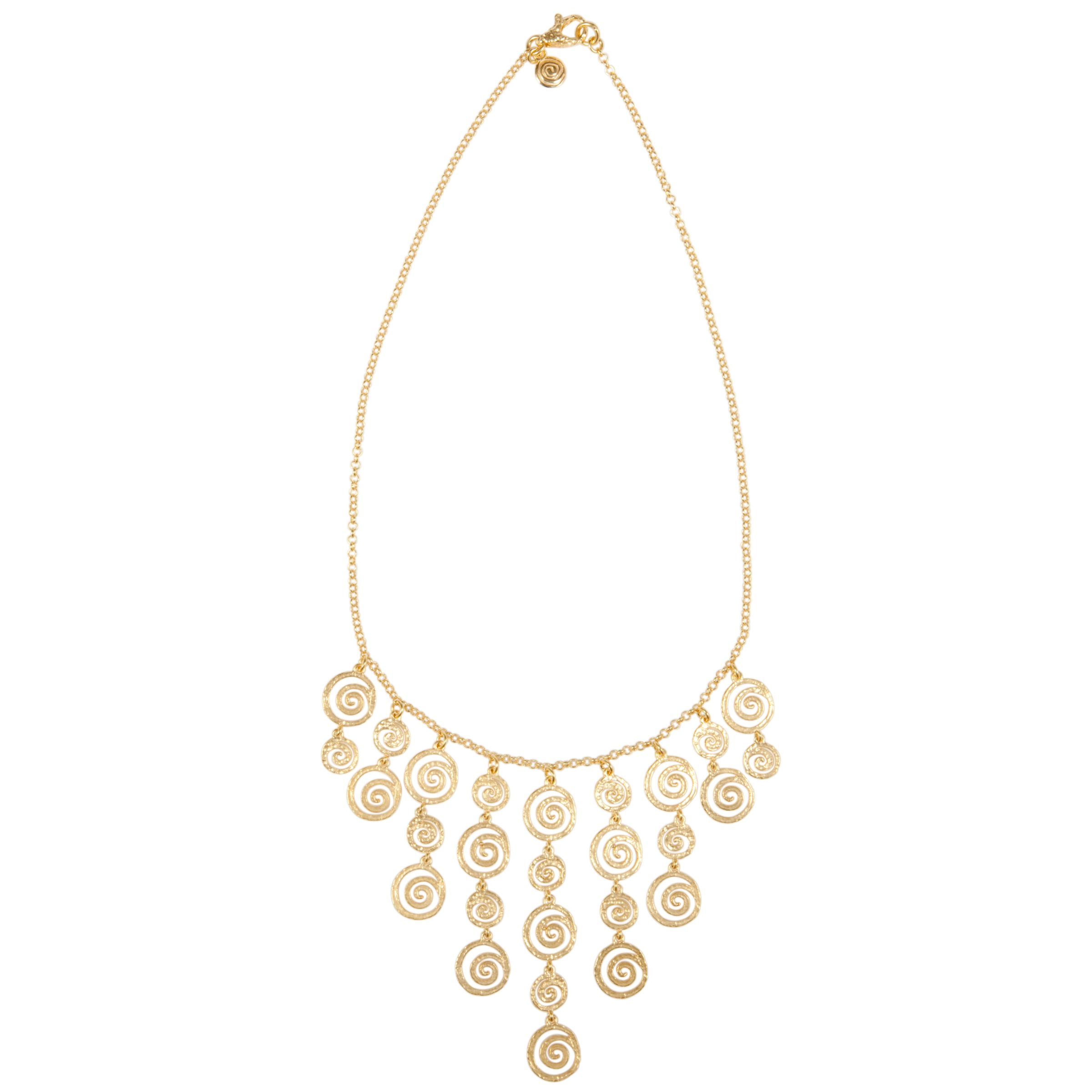 Etrusca 18ct Gold Plated Ornate Spiral Style Bib Necklace