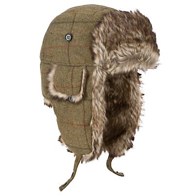 Barbour Tweed Hunter Hat, Brown