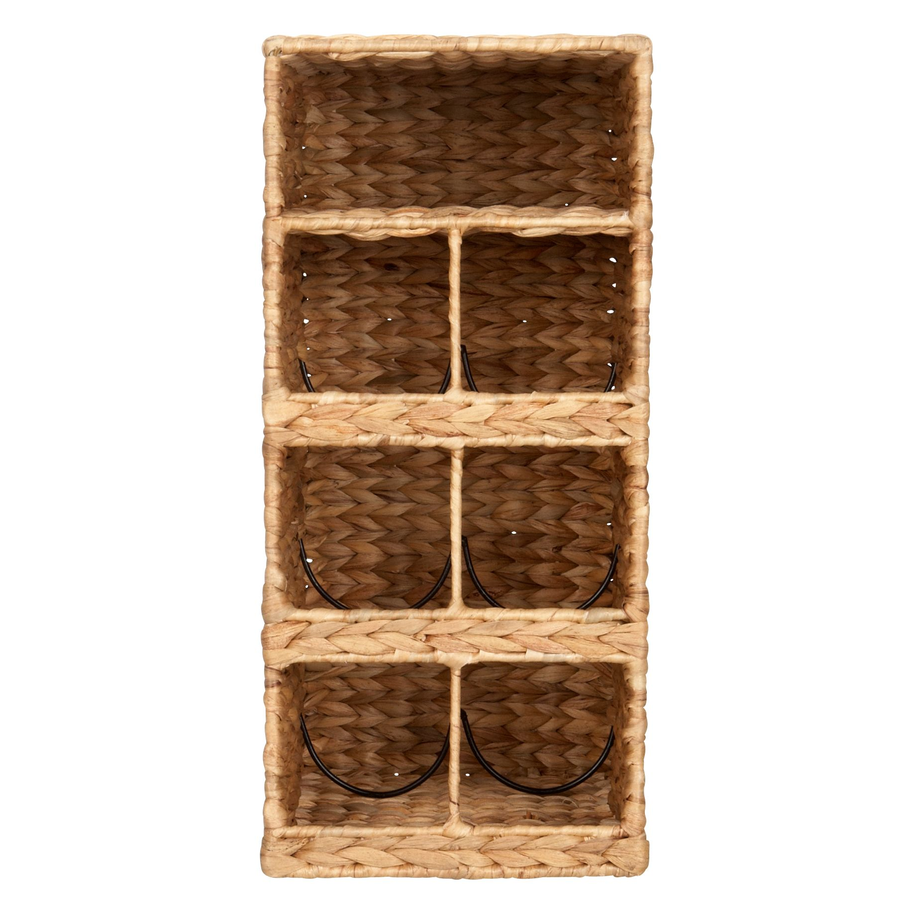 Water Hyacinth Wine Rack, 6 Bottles