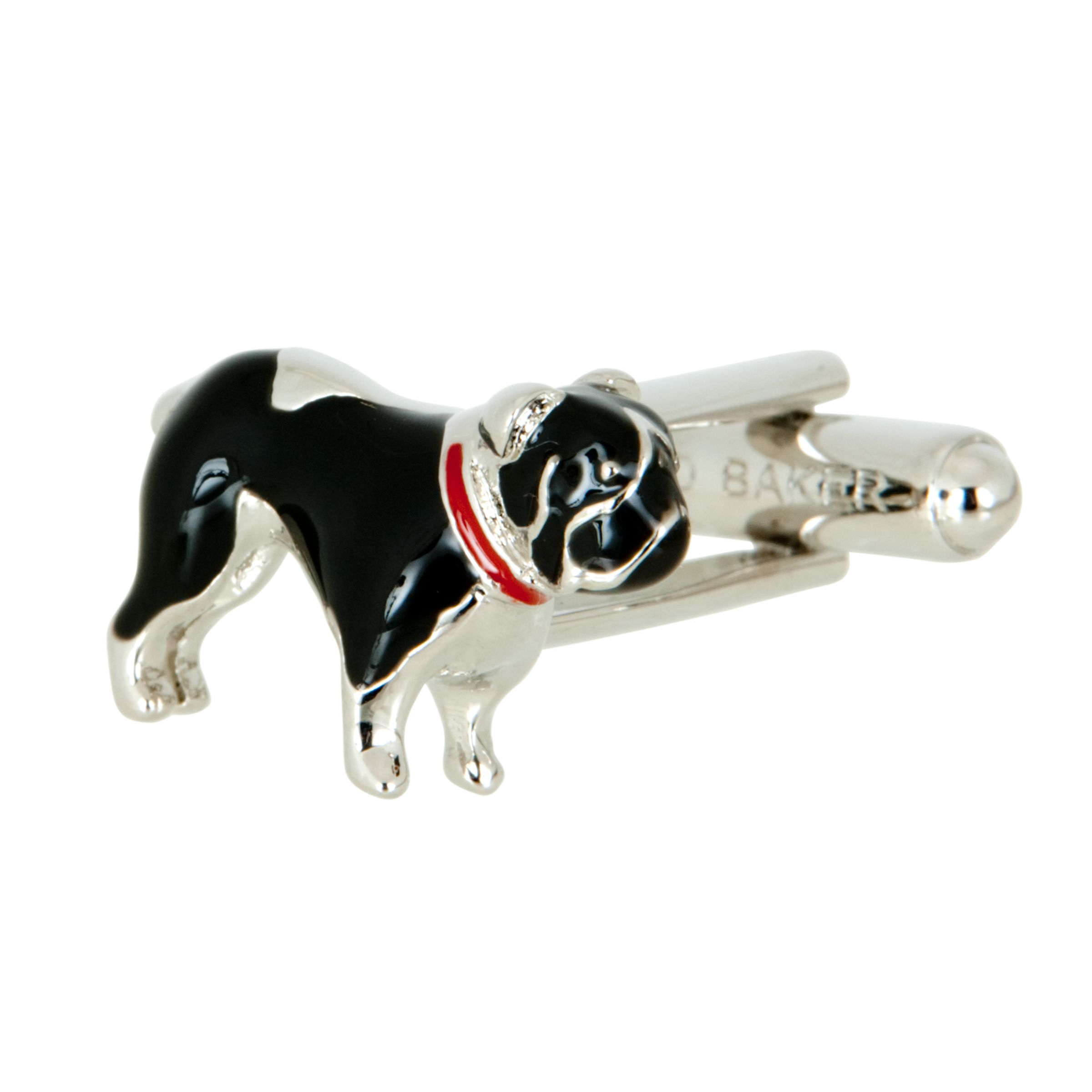 Bulldog Cufflinks, Grey