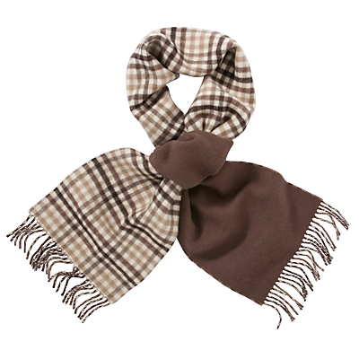 Barbour Reversible Scarf, Chocolate