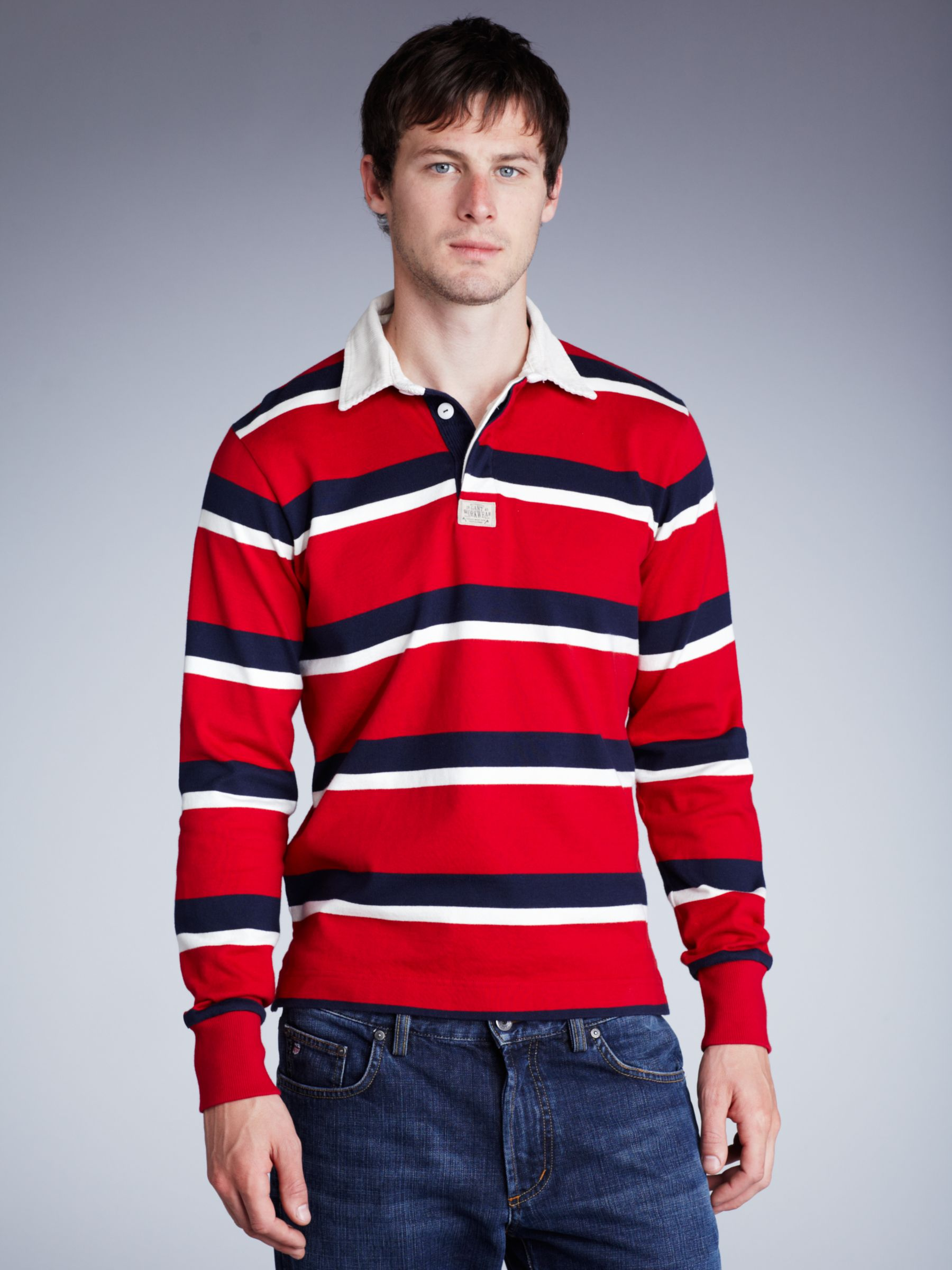 Gant rugby shirts for Long sleeve striped rugby shirt