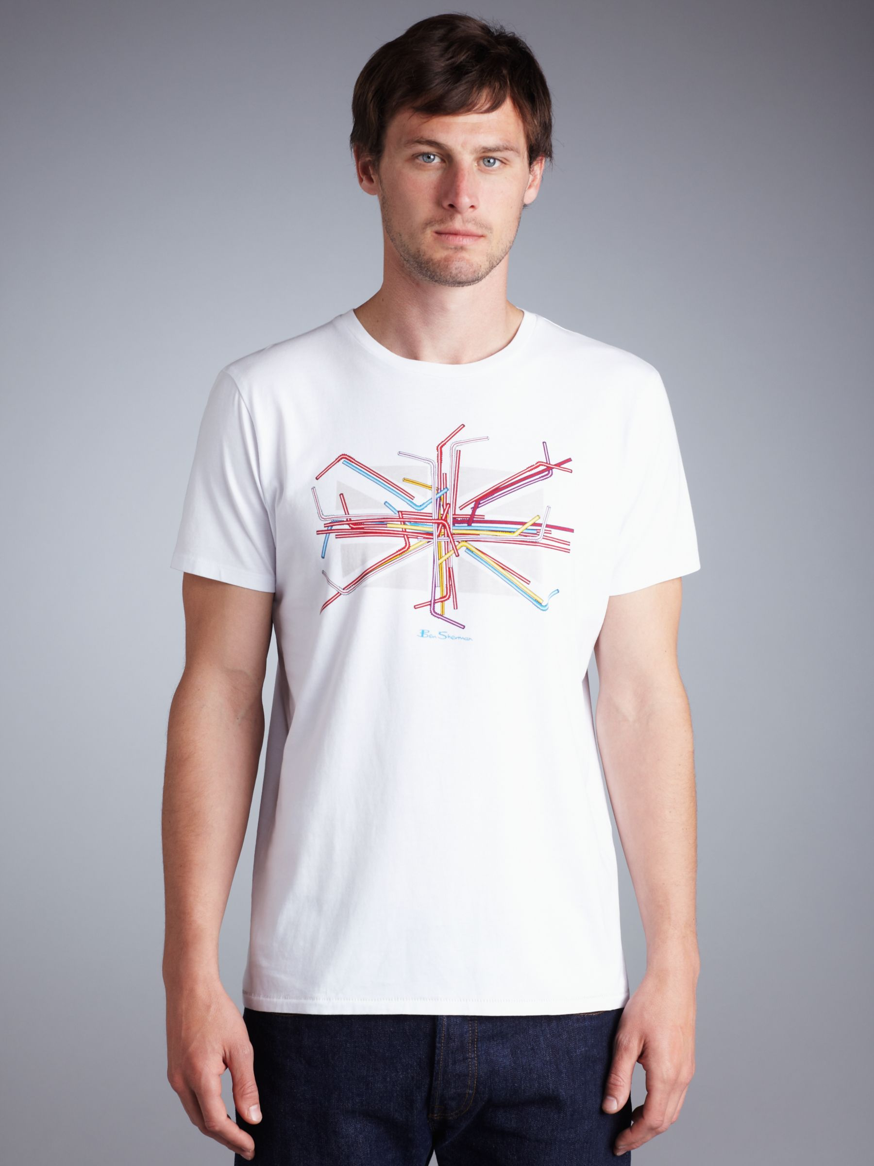 Straws Union Jack T-Shirt, White
