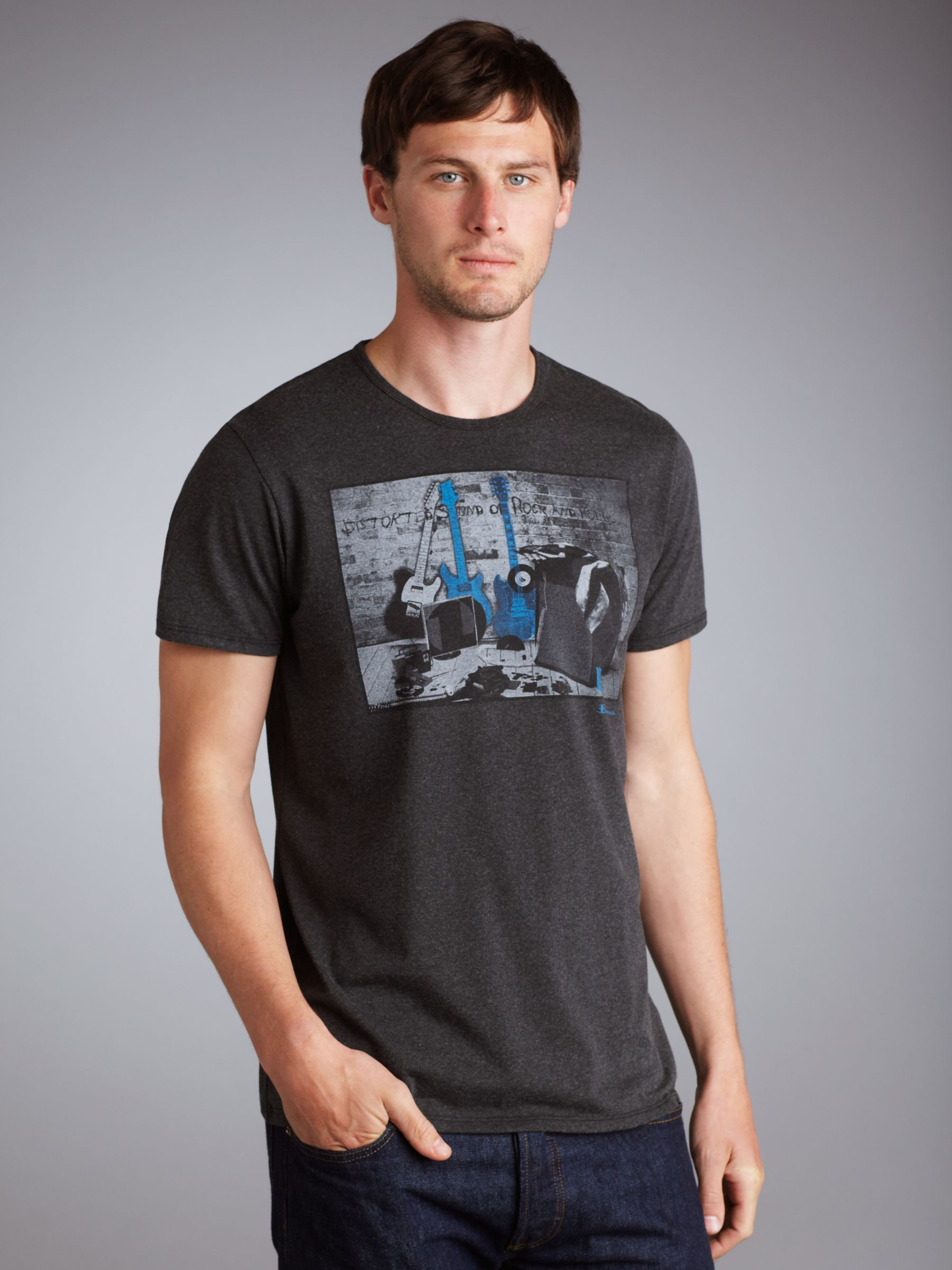 Rock T-Shirt, Grey marl
