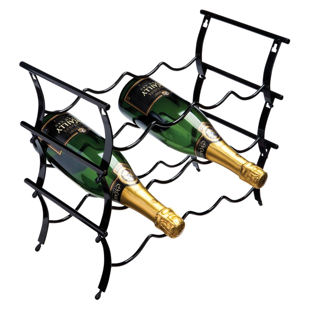 Winestak 12 Bottle Wine Rack, Black