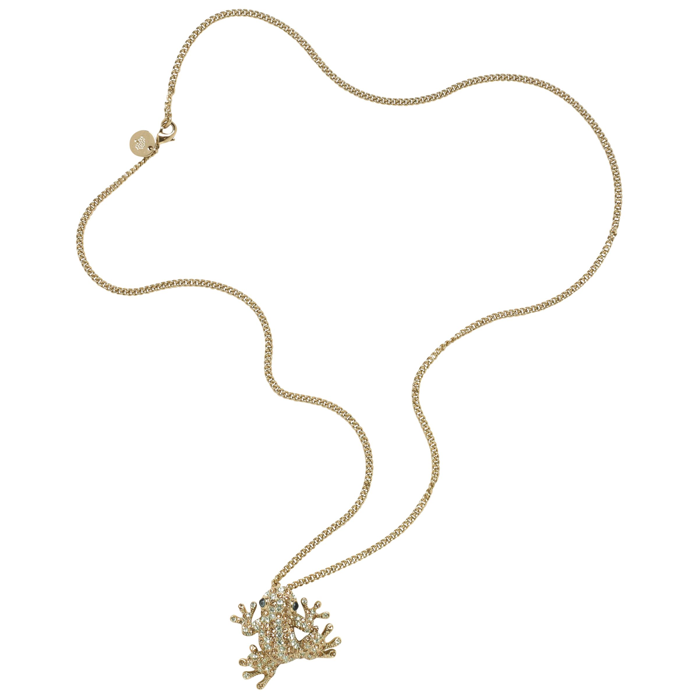 Mulberry Crystal Frog Pendant Necklace