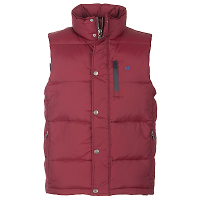 Crew Clothing Ridley Down Gilet, Bordeaux
