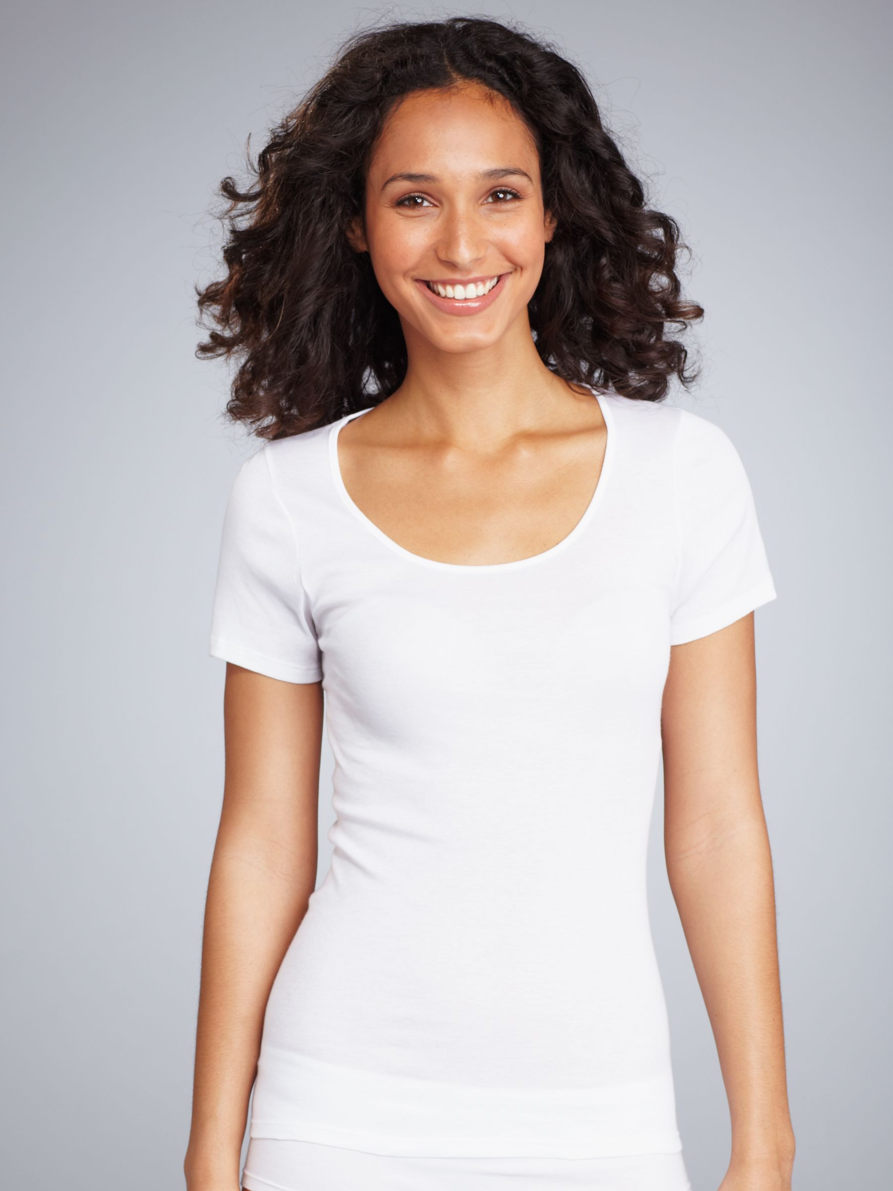 Hanro Short Sleeve Lounge Top, White