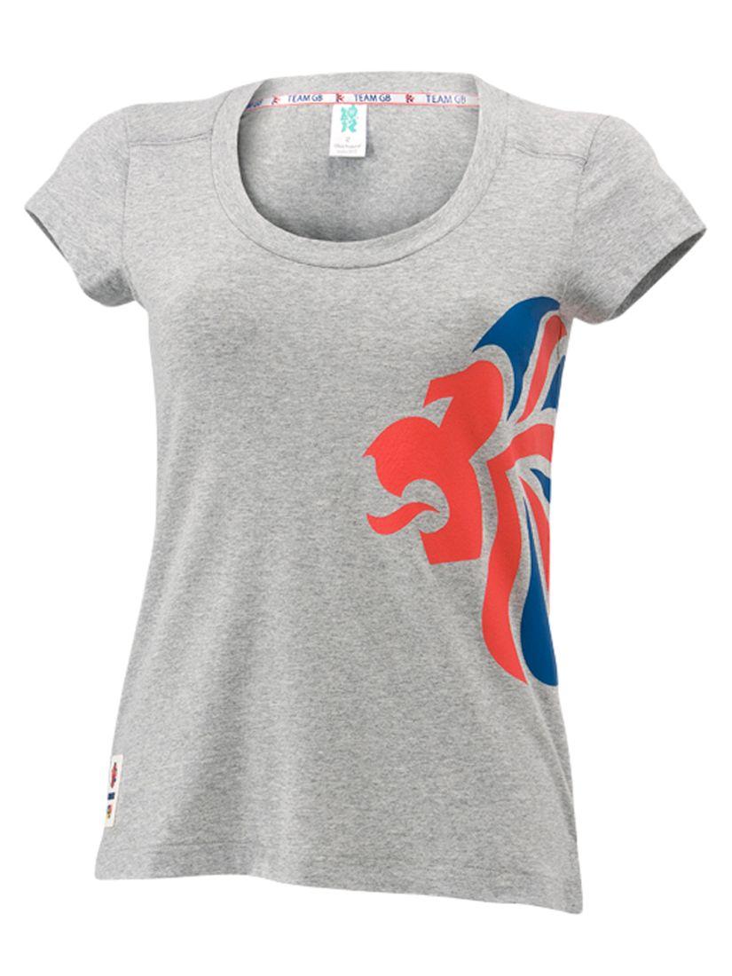 Womens Lion T-Shirt, Grey