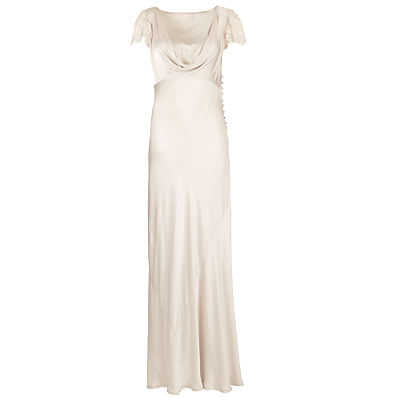 Buy Ghost Lace Sleeve Cowl Neck Maxi Dress, Nude online at JohnLewis.com - John Lewis