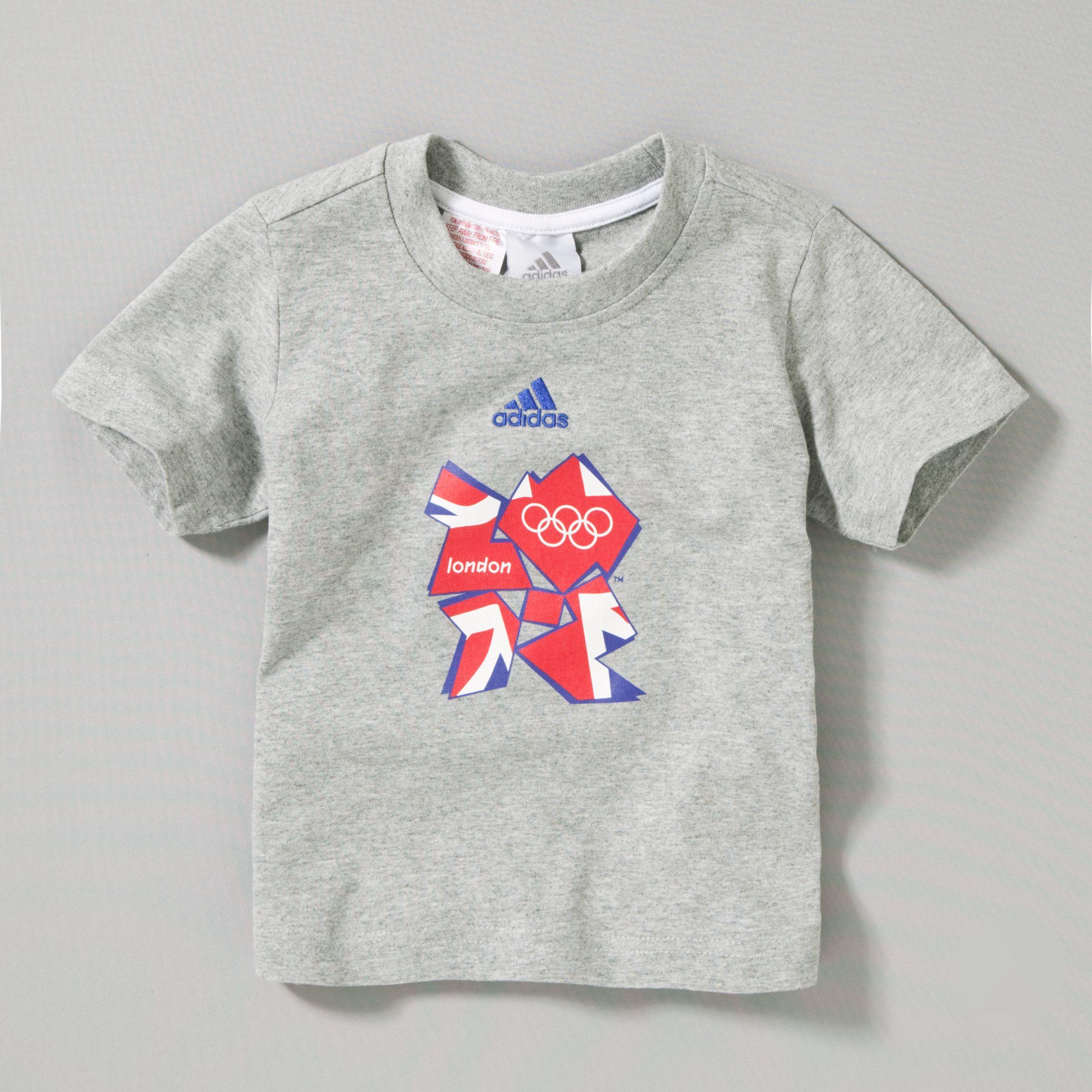London 2012 Union Jack T-Shirt, Grey Marl