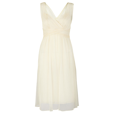 Buy L.K. Bennett Evelyn Dress, Champagne online at JohnLewis.com - John Lewis :  grecian champagne sleeveless white