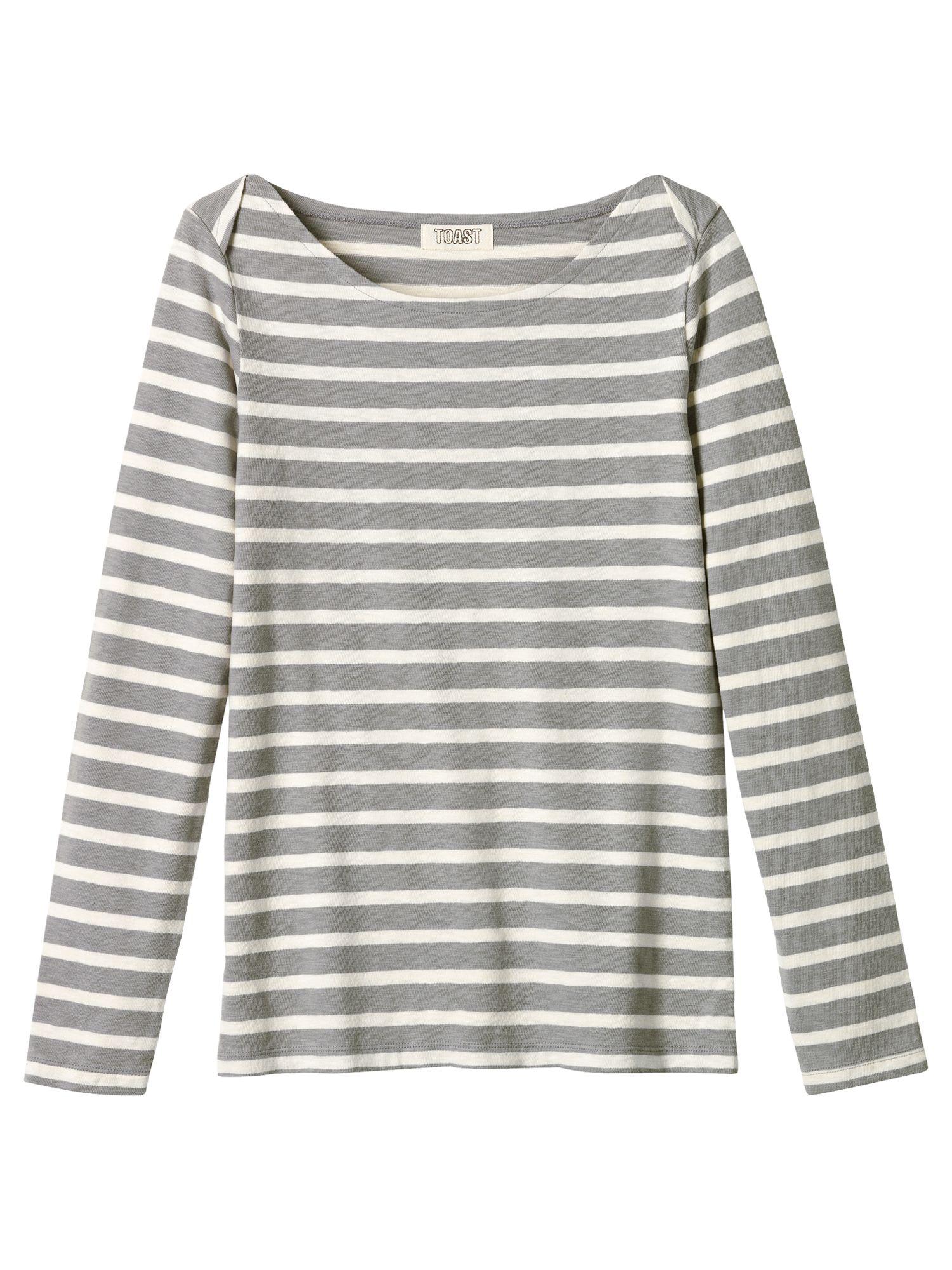 Striped Slub T-Shirt, Slate