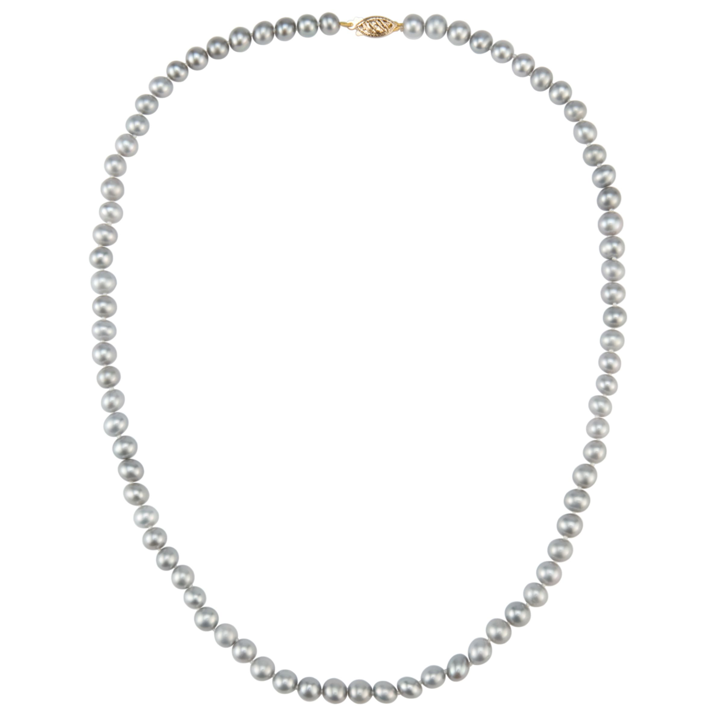 Freshwater Pearl Necklace, Grey