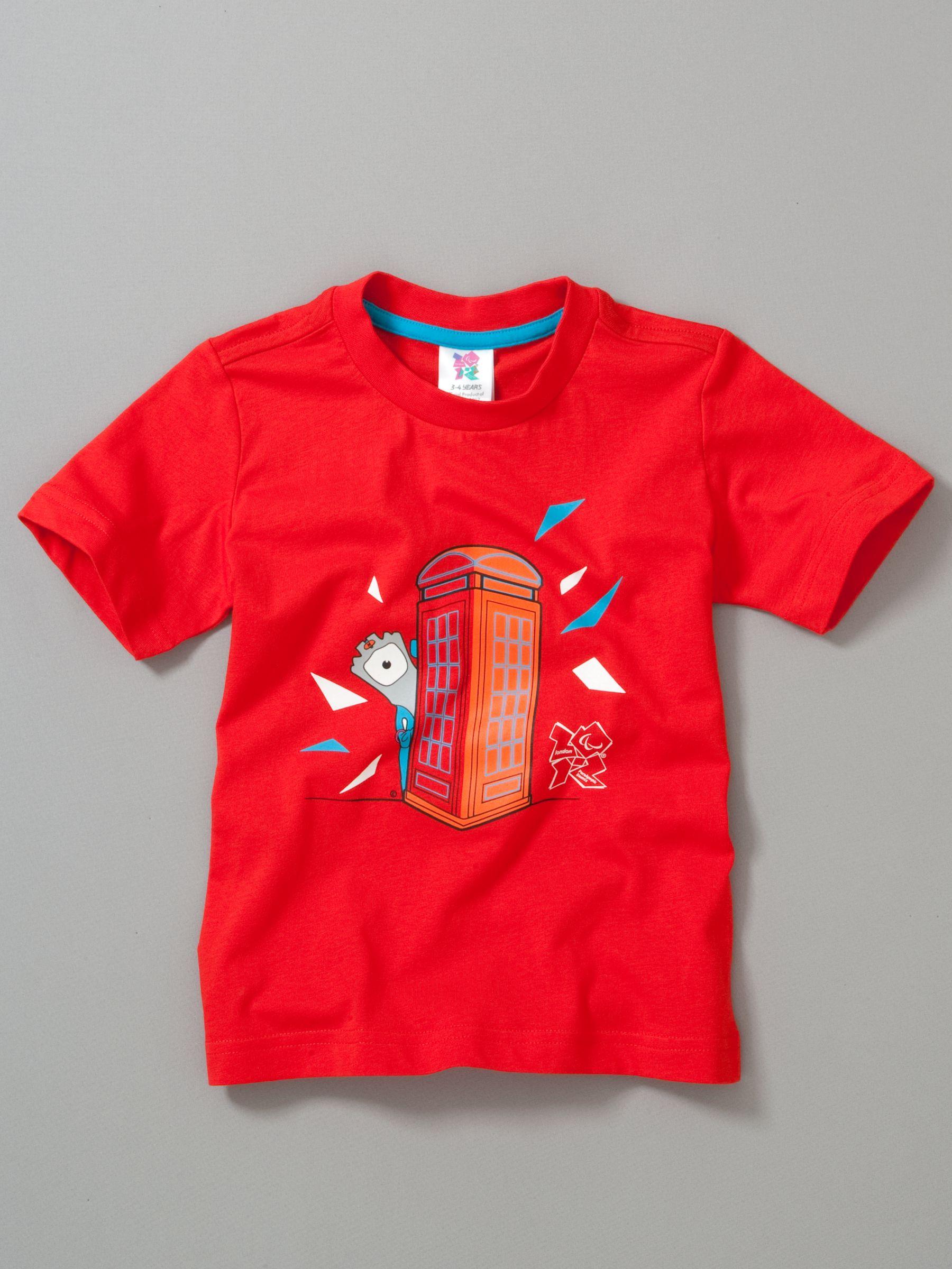 Wenlock T-Shirt, Poppy