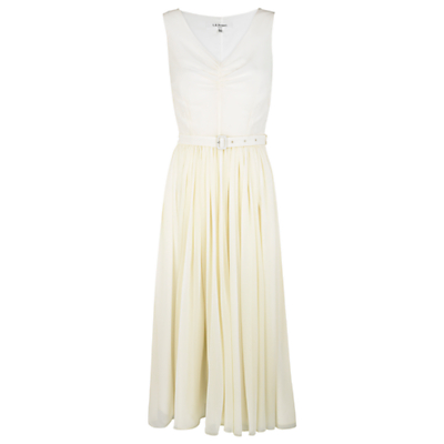 Buy L.K.Bennett Harriet Dress, Champagne online at JohnLewis.com - John Lewis :  champagne sleeveless ruched belted