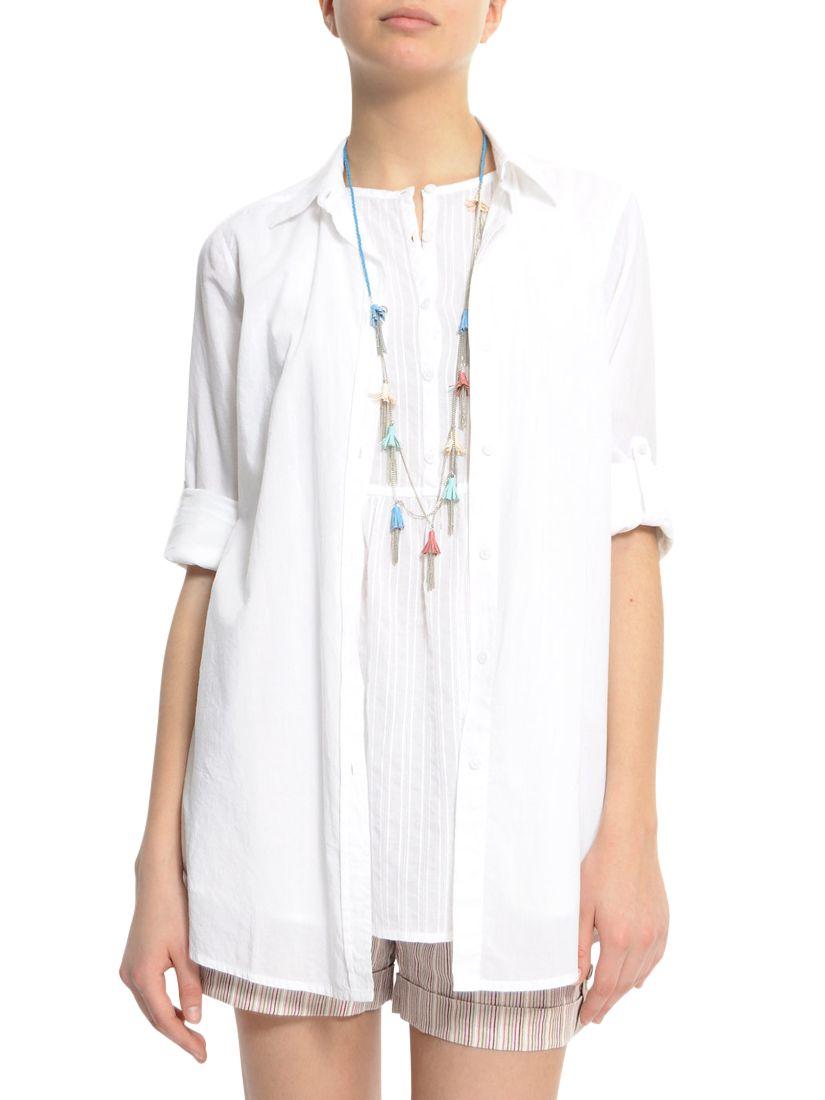 mango witte blouse