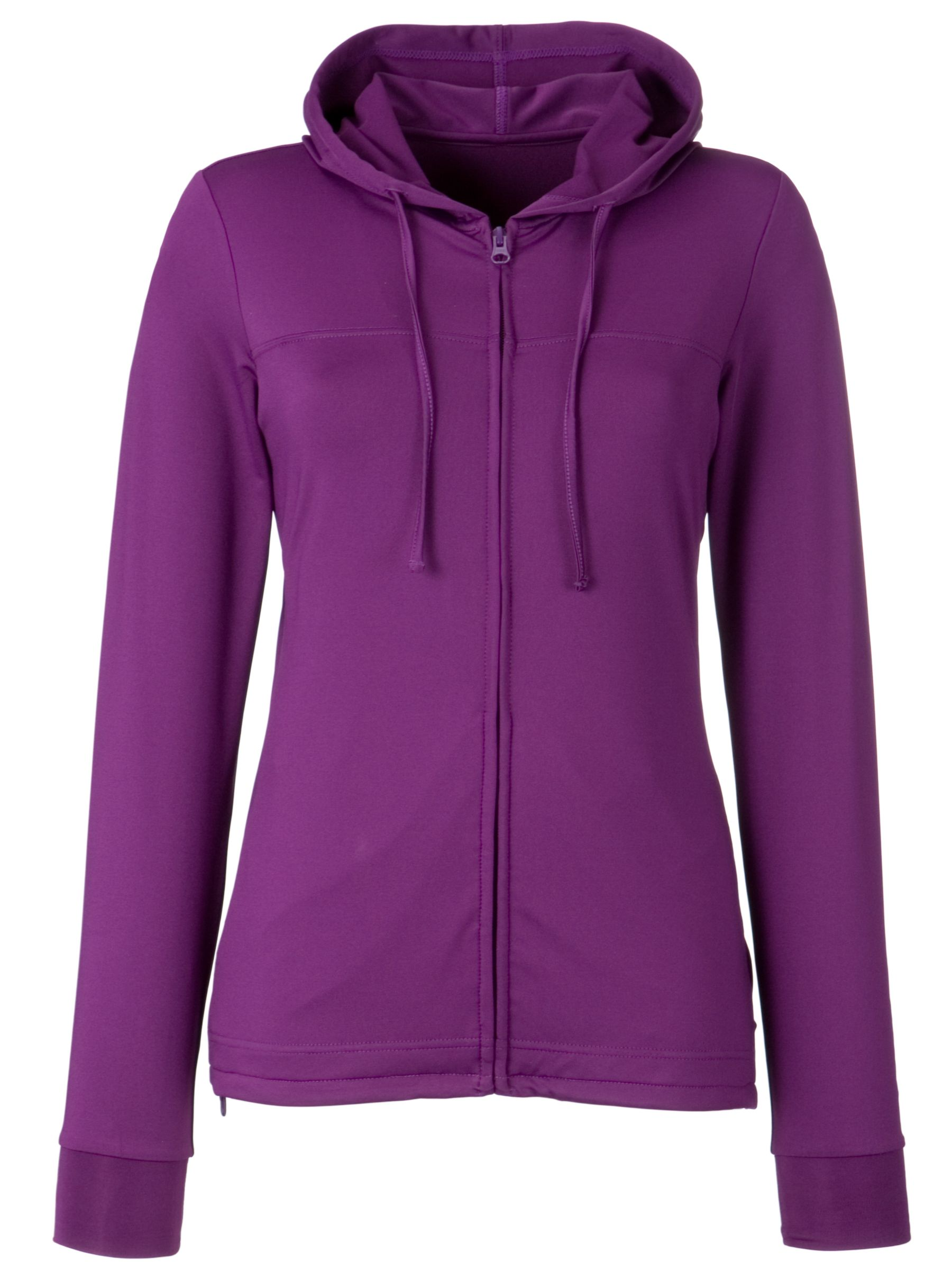 John Lewis Active Hooded Cover-Up Top, Purple