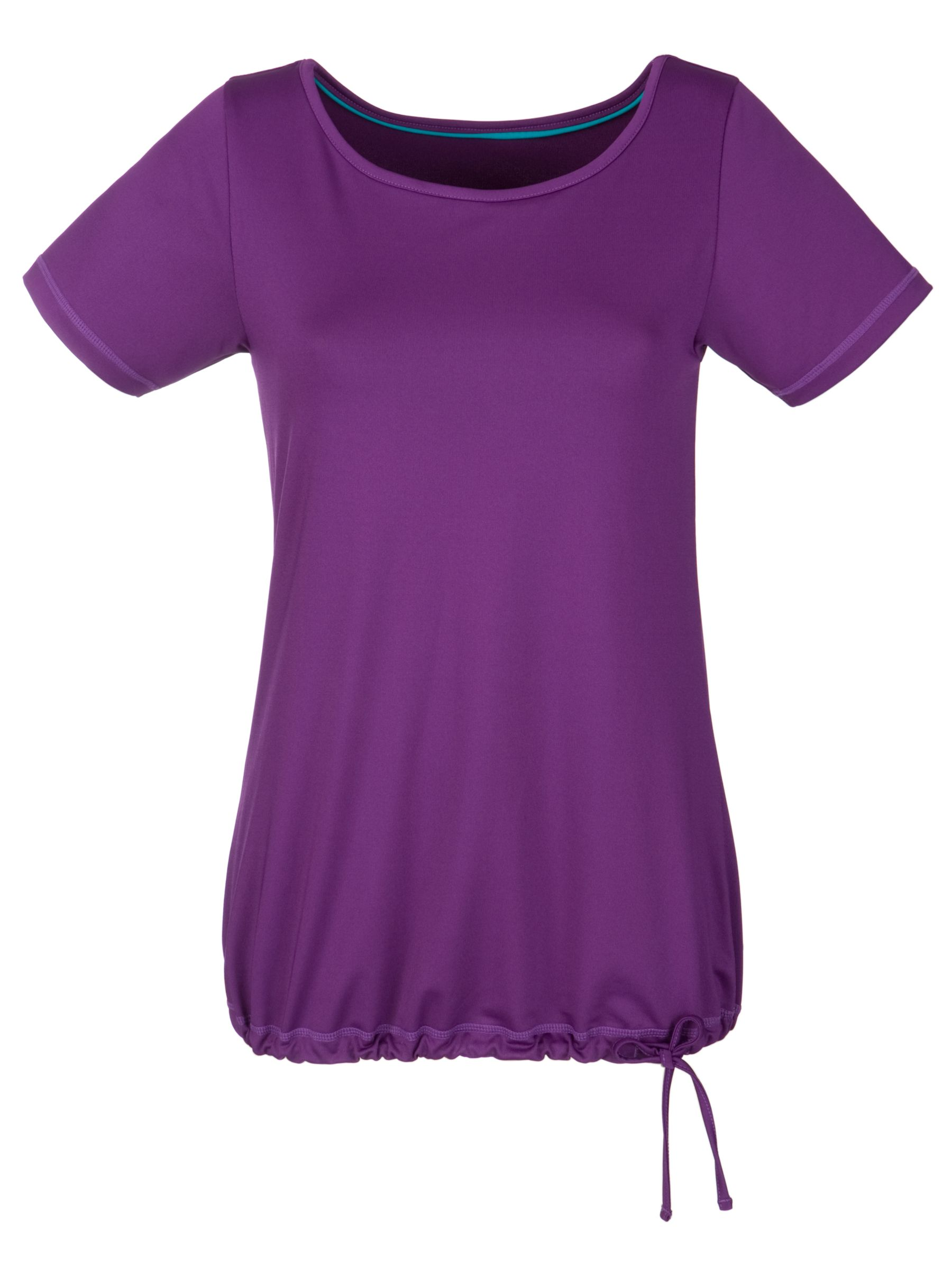 John Lewis Active Drawstring T-Shirt, Purple
