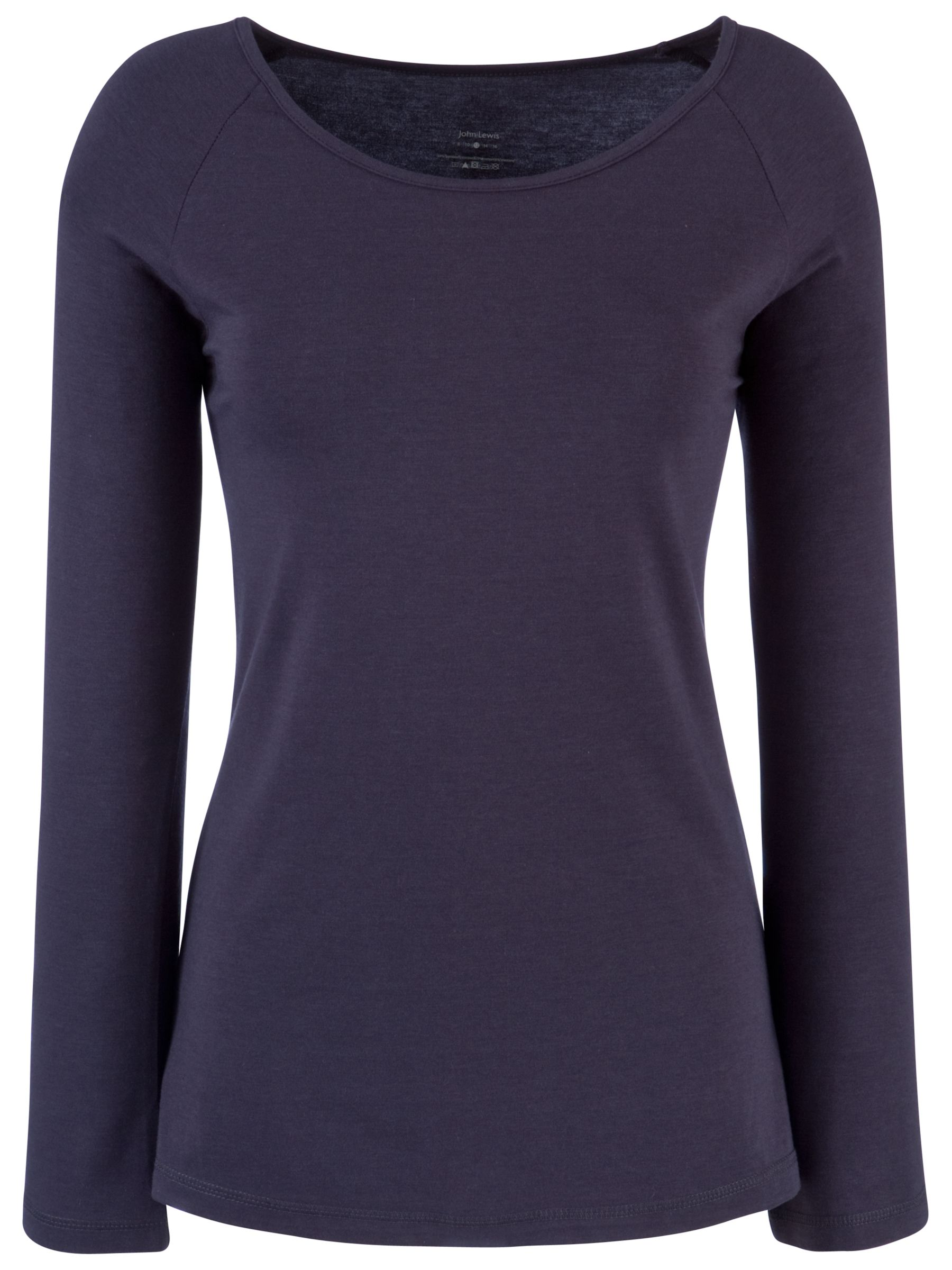 John Lewis Long Sleeve Yoga T-Shirt, Charcoal