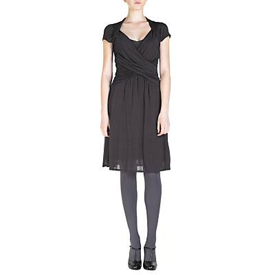 Jigsaw Fashions  Women on Buy Jigsaw Ruched Wrap Front Dress  Granite Online At Johnlewis Com