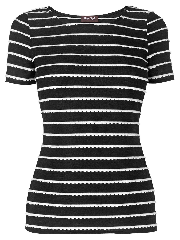 Monica Striped T-Shirt, Black/White