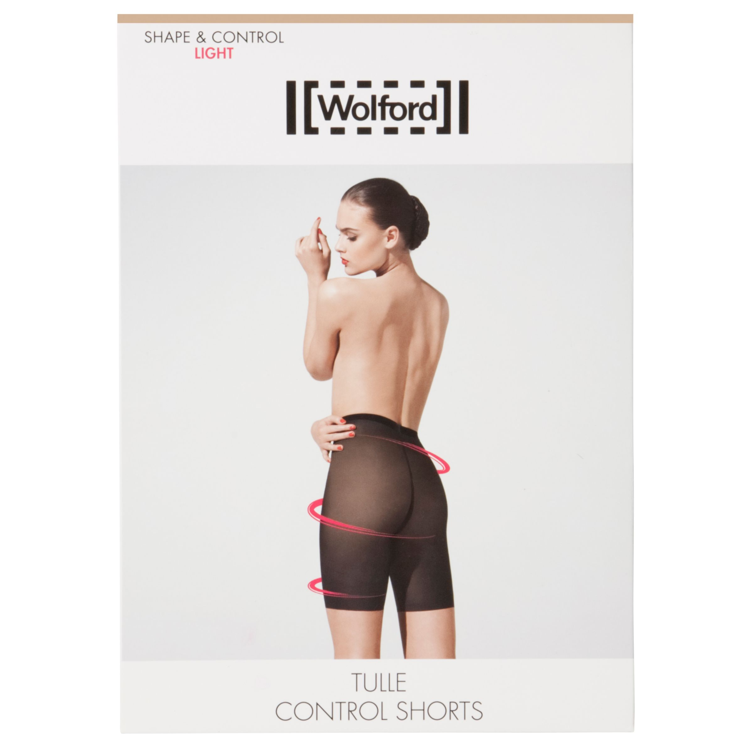 Wolford Tulle Control Shorts, Nude