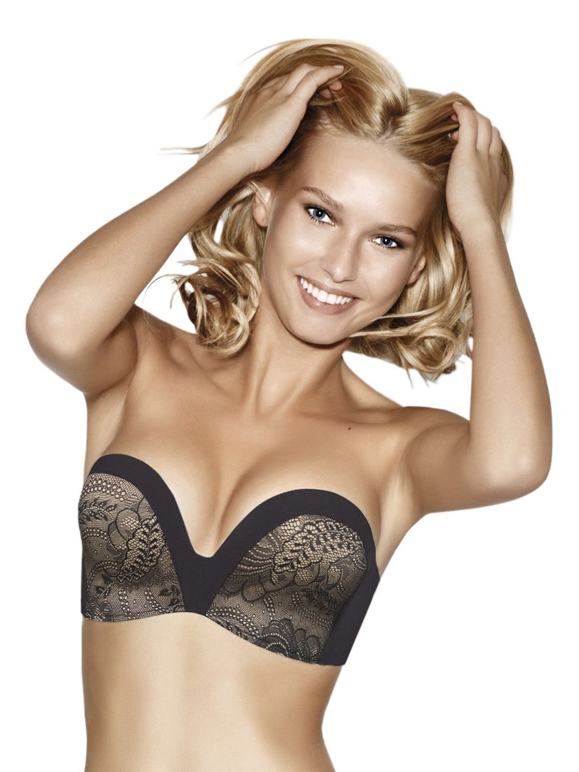 Wonderbra Ultimate Strapless Lace Bra, Black