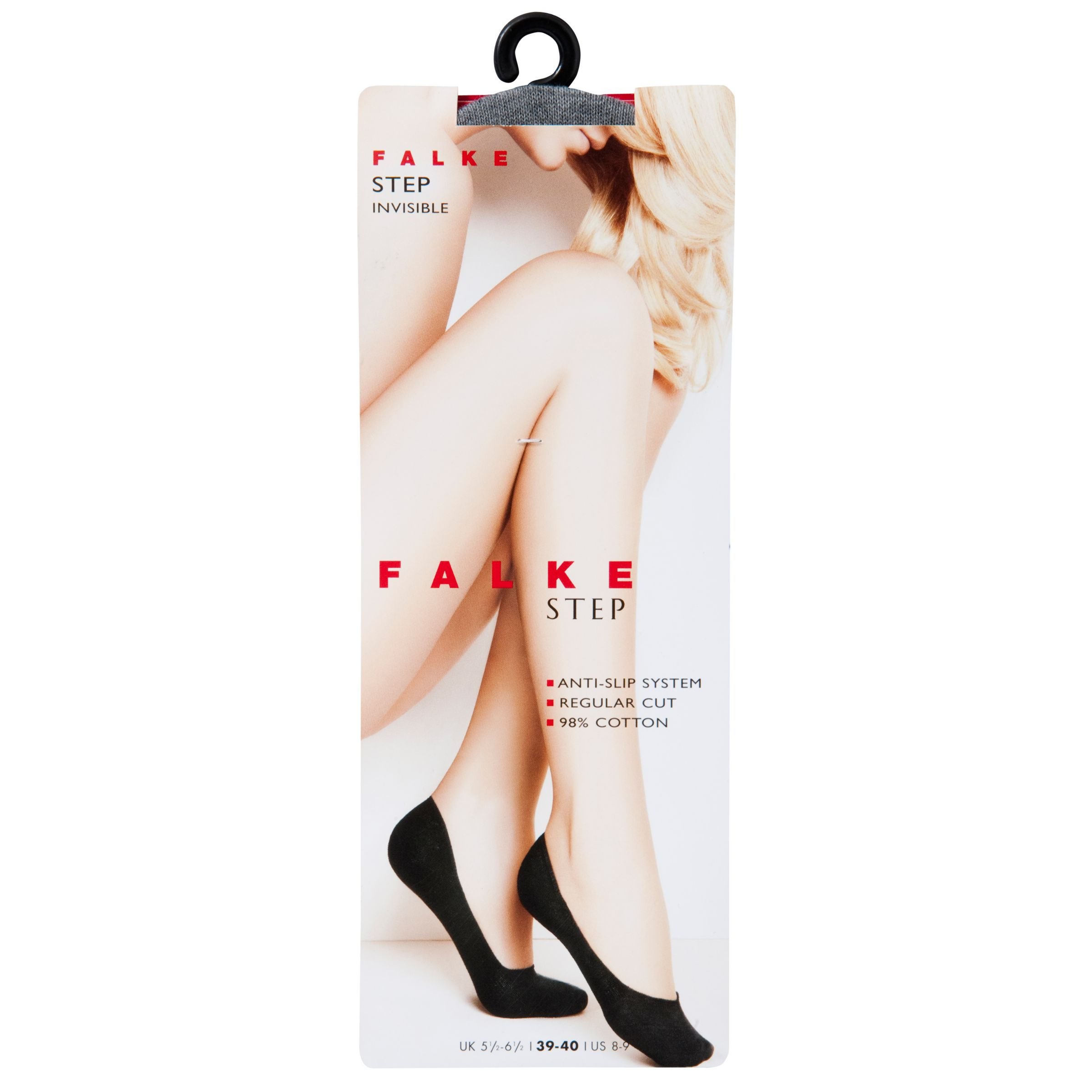 Falke Cotton Step Shoe Liner, Light grey