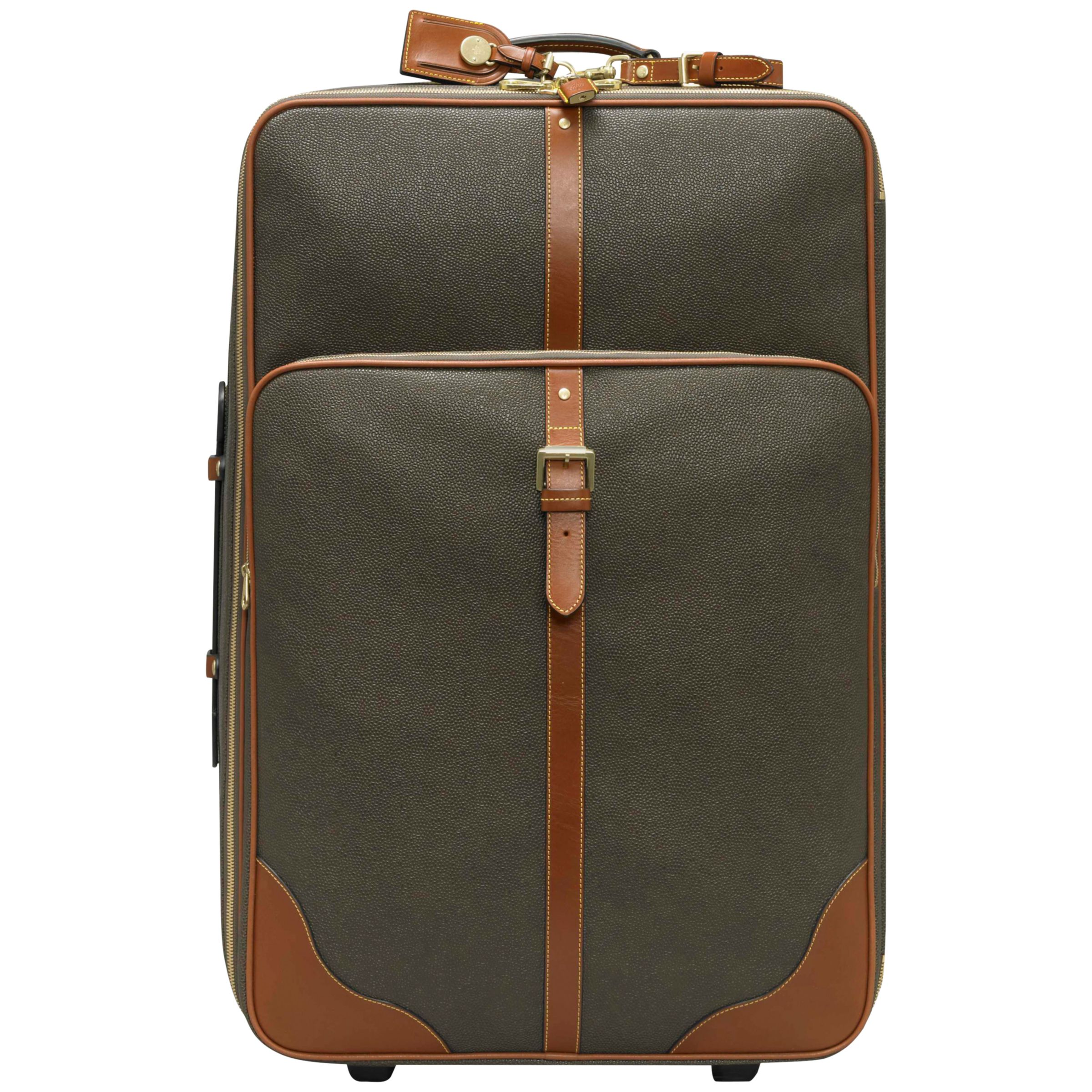 Mulberry Scotchgrain Leather Trim Suitcase, Mole/Cognac