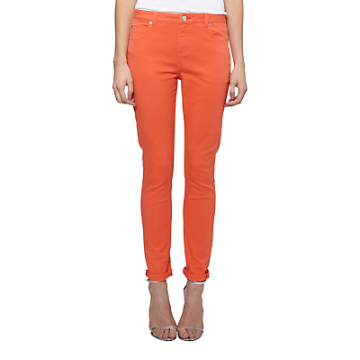 Whistles Charlie Coloured Skinny Jeans, Coral £80