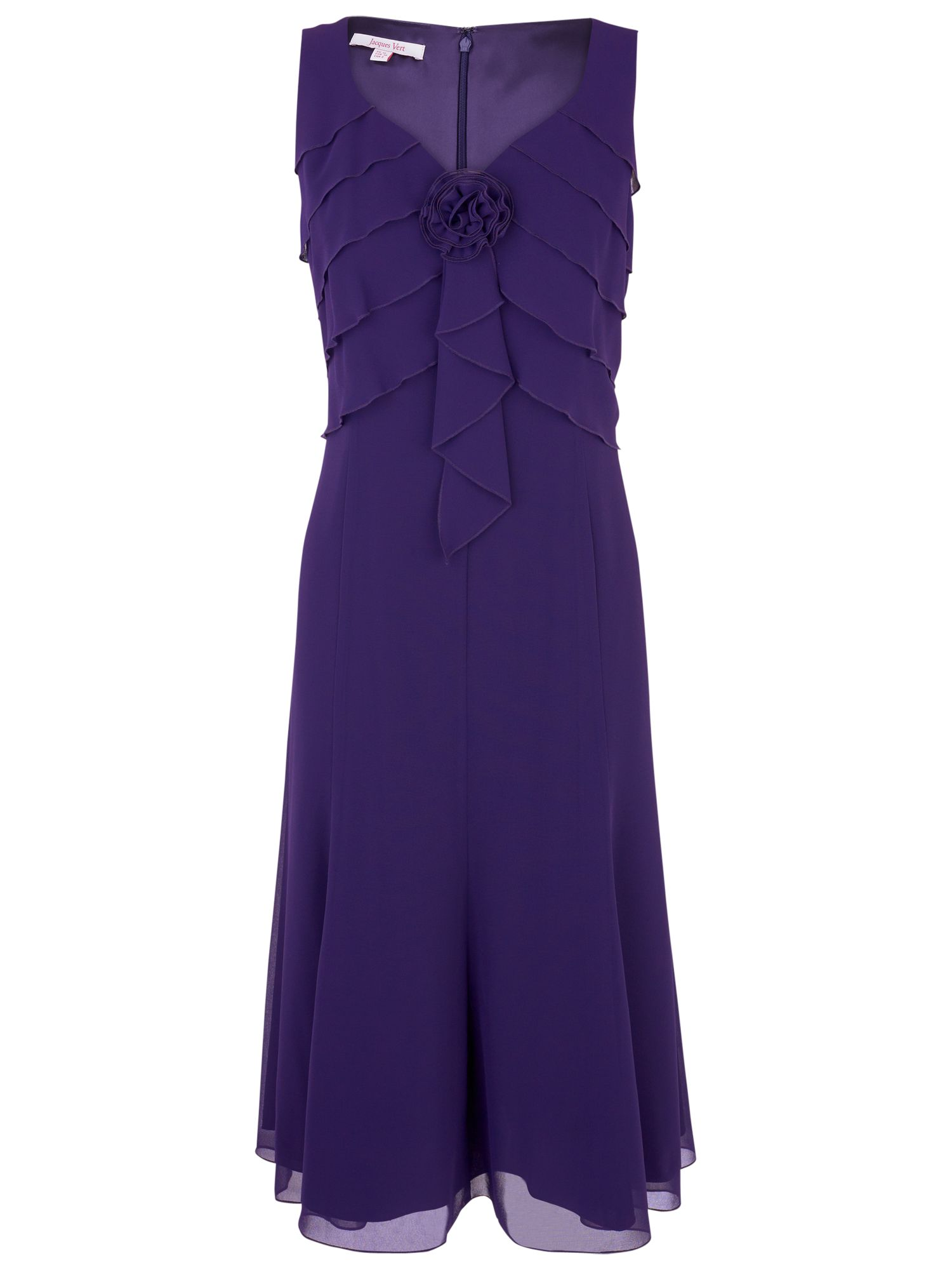 Jacques Vert Bramble Layered Dress, Plum