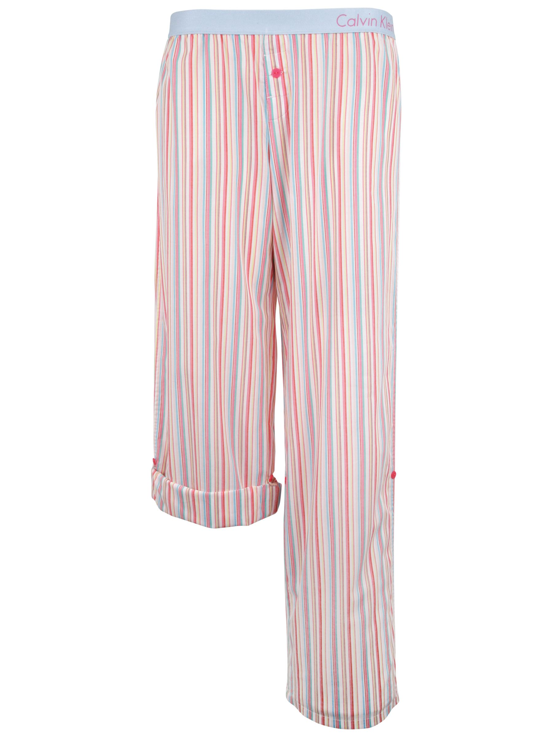 Calvin Klein Woven Roll Up Pyjama Trousers, Multi