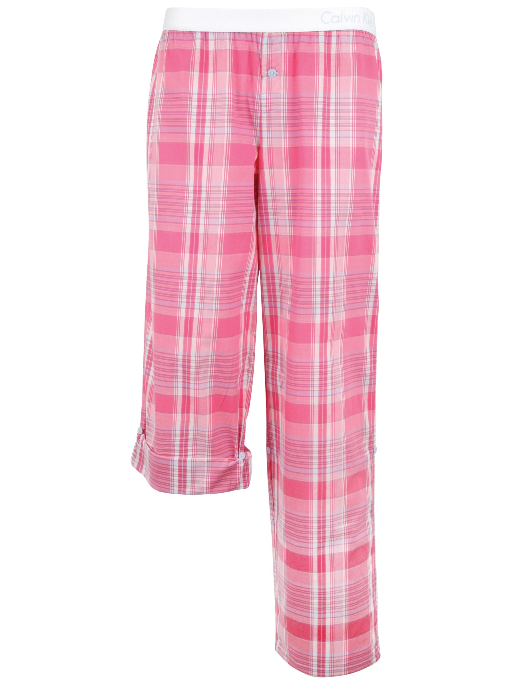 Calvin Klein Woven Roll Up Pyjama Trousers, Pink