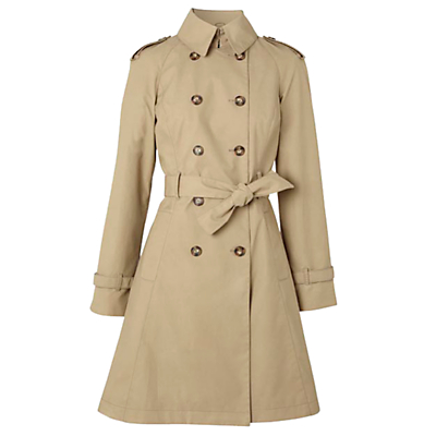 Hobbs Costigan Trench Coat, Light Fawn