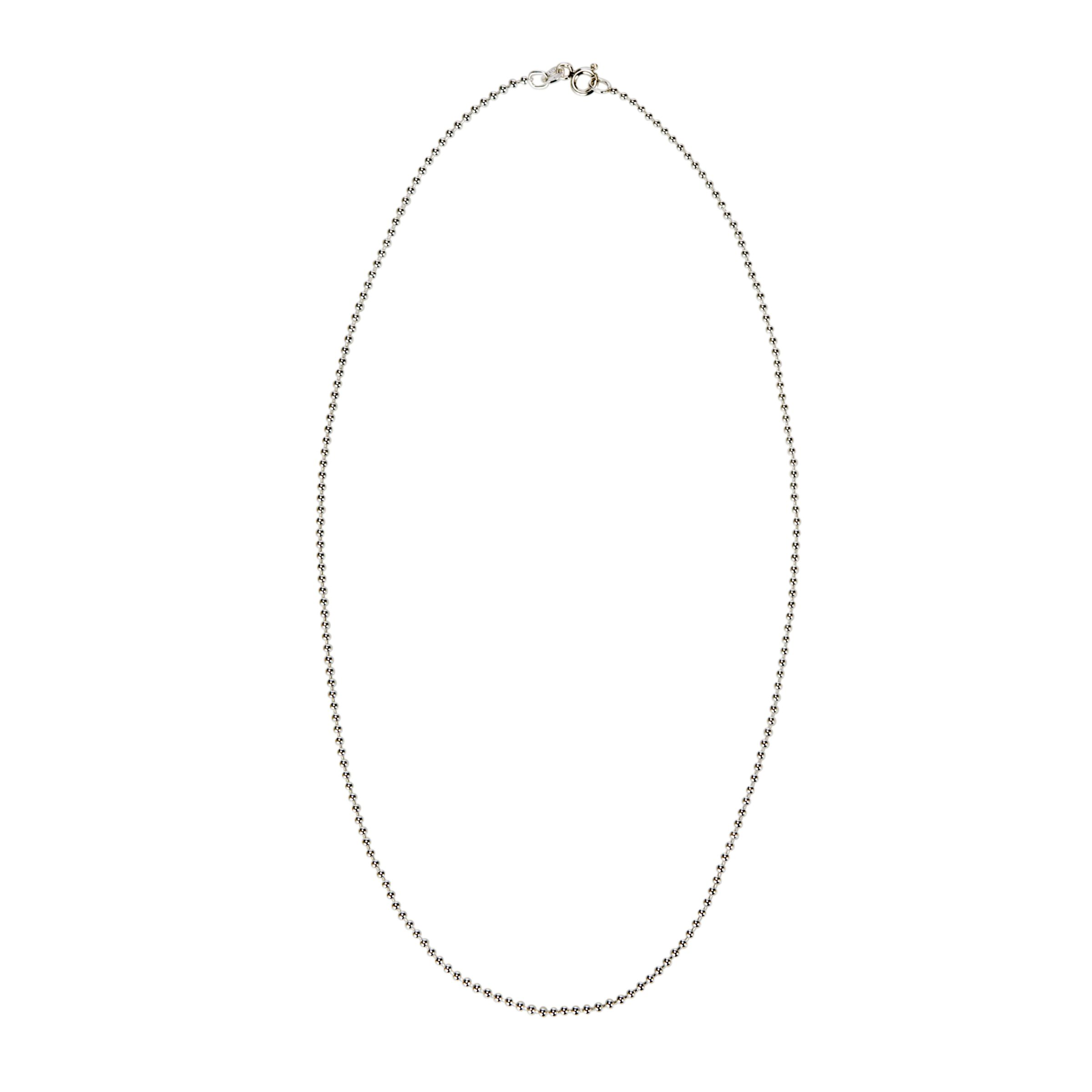 Nina Breddal Silver Ball Chain Necklace, 45cm
