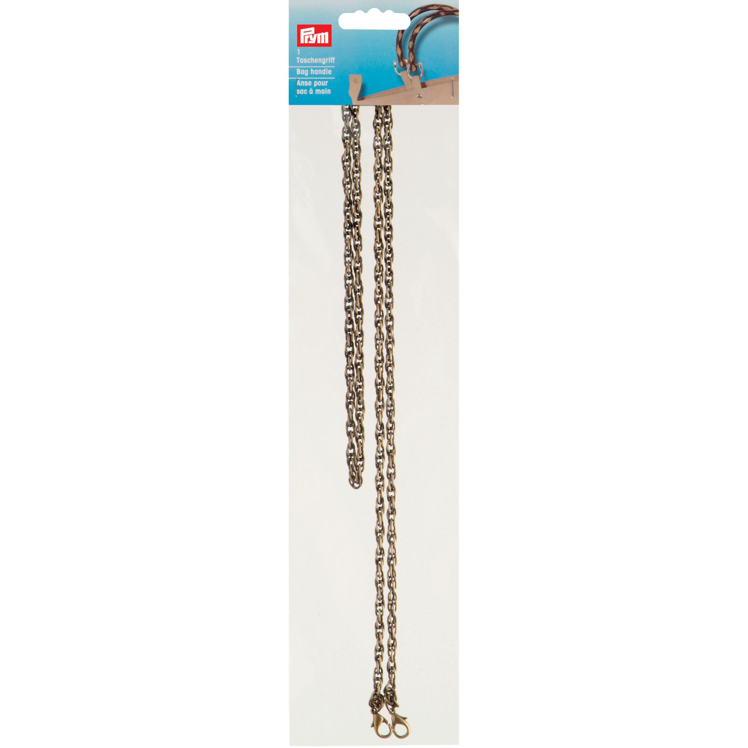 Prym Anna Gold Effect Chain Bag Handle, 110cm, 1 Per Pack