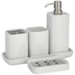 House by John Lewis Bento Porcelain Bathroom Accessories