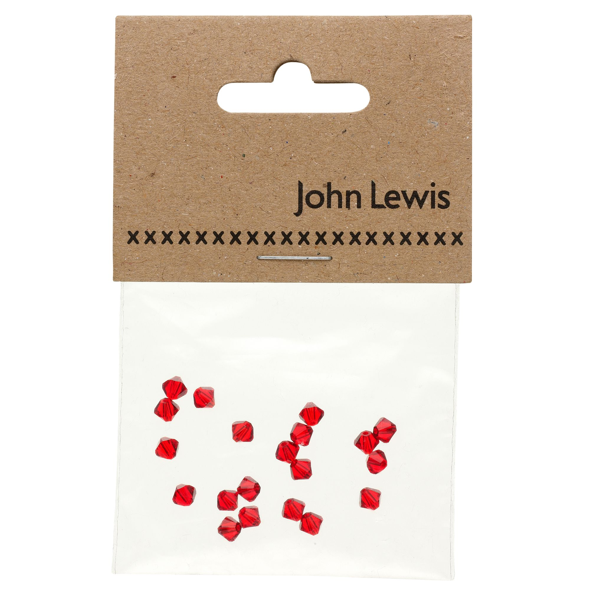 John Lewis Swarovski Xillion 4mm Crystals, Pack of 20, Light Siam
