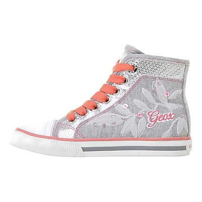 Close Geox Ciak Hi-Top Trainers, Grey