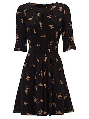 NW3 Annabel Dress Black Toffee 10
