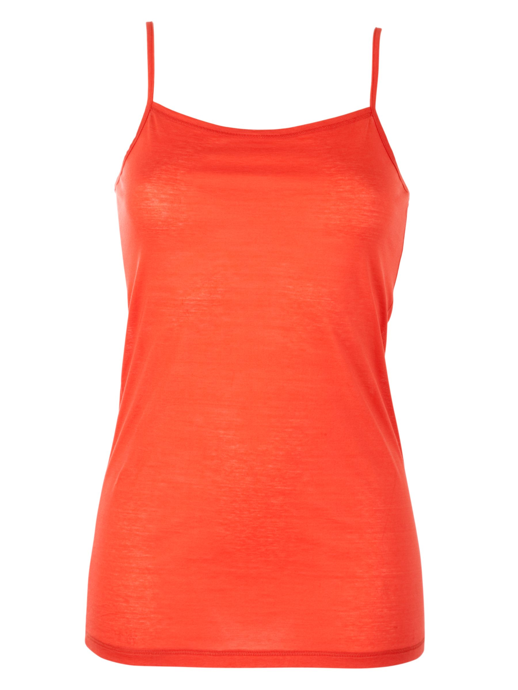 Hanro Paper Touch Camisole, Scarlet